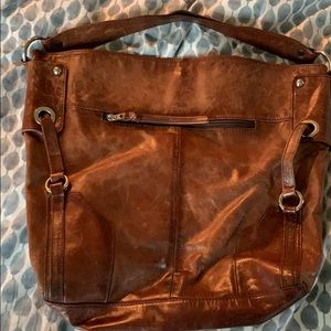 Brown leather Tano purse
